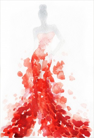 Poster Red Dress